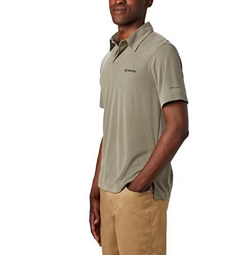 Columbia Herren Sun Ridge Poloshirt, Graugrün (Sage), XL
