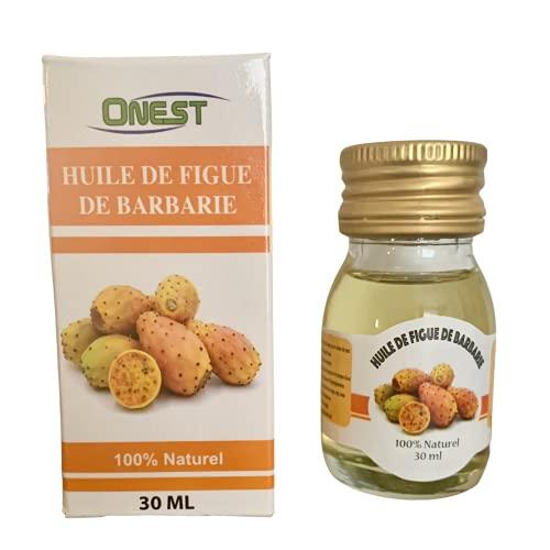 Huile Végétale Figue de Barbarie - 100% pure et naturelle - 30 ml -soin nourrissant pour la peau, visage, cheveux. Vegan - Hydrate nourrit