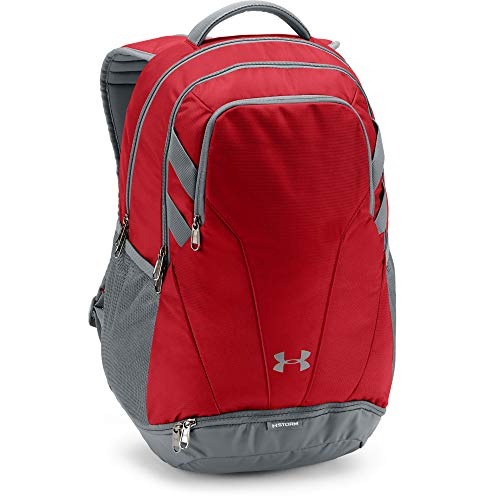 Under Armour Adult Team Hustle 3.0 Backpack , Red (600)/Gray , One Size Fits All