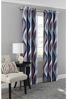 Mainstay Blackout Energy Efficient Grommet Curtain Panel, 40x84 Blue/Helix