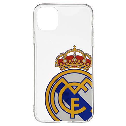 Funda Oficial del Real Madrid Escudo Transparente para iPhone 11 Protege tu móvil con el Escudo y los Colores de tu Equipo Favorito.