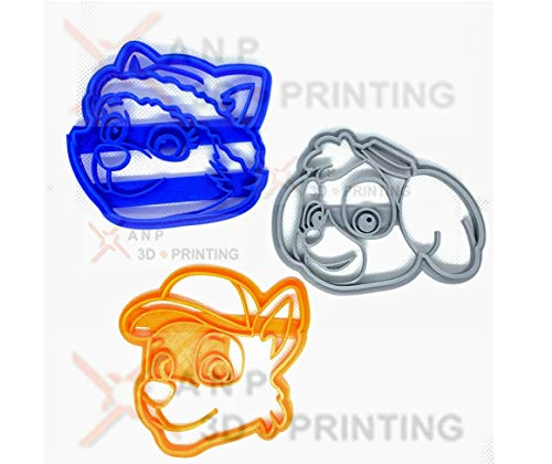 Paw Patrol Cookie Cutters set - 6 Characters