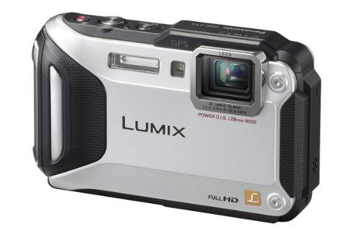Panasonic LUMIX DMC-FT5EG9-S Outdoor Kamera (3 Zoll LCD-Display, LEICA Weitwinkel Objektiv mit 4,6x opt. Zoom, wasserdicht bis 13 m, GPS,WiFi) silber