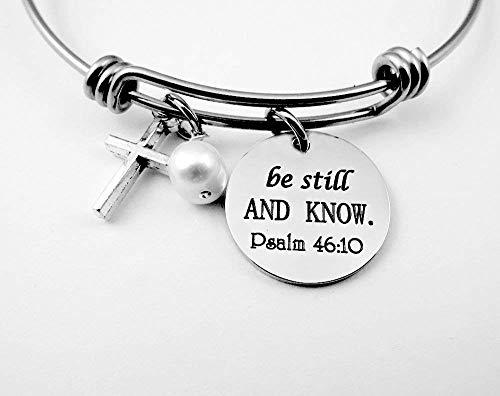Psalm 46:10 Be Still and Know That I am God Bracelet
