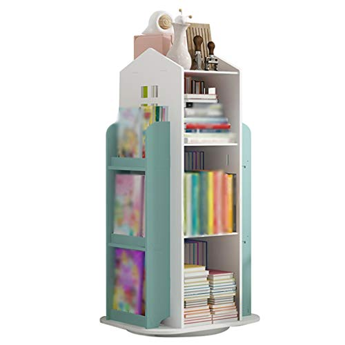 Estanterias para libros con puertas Librería simple, Estantería para niños de dibujos animados en casa, Estante de almacenamiento de juguetes de jardín de infantes, Estante giratorio para casa pequeña
