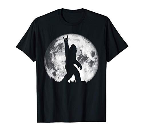 Rock n' Roll! Hand Symbol Bigfoot Night Stroll & Moon Tシャツ