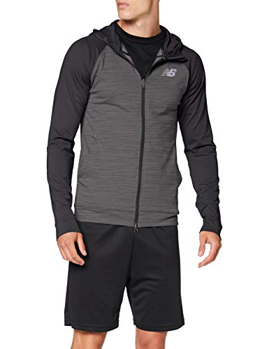 New Balance Herren Anticipate 2.0 Jacket Jacke, Heather Charcoal, Größe S