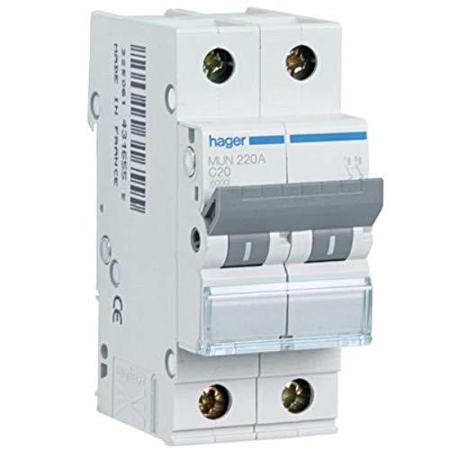 Hager mp - Interruptor automático - 2 polos 10a curva icp-m