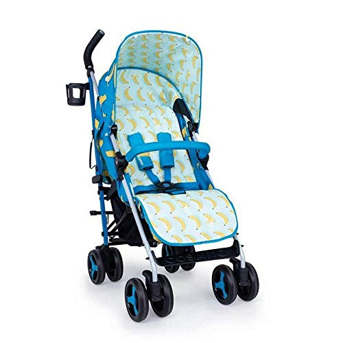 Cosatto Supa 3 Pushchair – Lightweight Stroller from Birth to 25kg | Compact Fold, Large Shopping Basket, Footmuff (Go Bananas)
