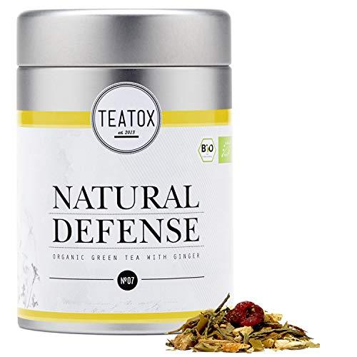 TEATOX Natural Defense Tee, Bio Grüntee mit Ingwer (loser Tee im Grobschnitt in Tee-Dose)