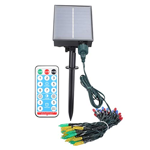 Solar Lamp, String Light, Eco-Friendly IP65 Waterproof for Courtyards Gardens Balconies Lawns(RGB)