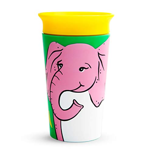 Munchkin Miracle 360 Wildlove Sippy Cup, 9 Oz, Elephant
