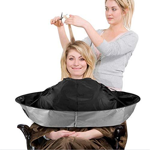 Capa de peluquería con cierre de velcro flexible, impermeable, lavable y plegable para peluquería