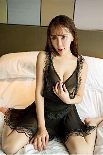 Ropa erótica Ropa erótica de mujer Conjunto de uniforme de sirvienta de servicio de mucama de lencería sexy para mujer, vestido de malla de cocina para niña, calcetines negros y negros de archivo ab