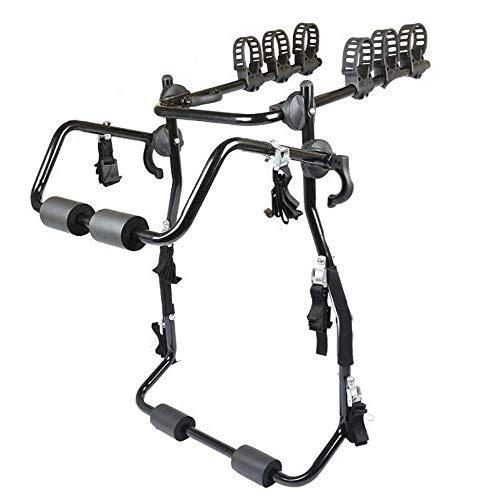 LFDHSF Fahrradboden Typ Auto Fahrradständer 150 kg Beladung 3-Fahrrad-Kofferraumhalterung Fahrradträgerhalterung Für die meisten SUV-Schrägheckmodelle mit Limousine Minivan-Fahrradträger und -Ständer