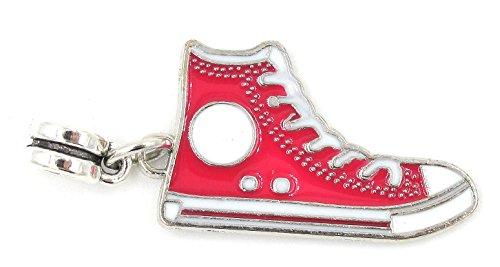Best Wing Jewelry - Abalorio para Pulseras con Cadena de Serpiente, diseño de Zapatos y Zapatillas
