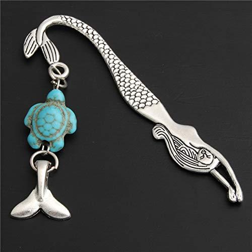 XHYKL 1 stuk metalen metalen signet zeemeermin parels met schildpad-charms, cadeau, vintage teken