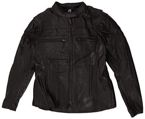 Australian Bikers Gear CE 1621-1 5, Chaqueta de moto de cuero Sturgis Tour, Mujer, Negro, 38 EU, 10 UK, Tamaño del Fabricante: M