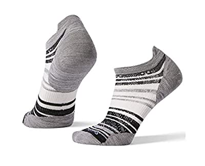 Smartwool PhD Outdoor Light Micro Socks - Women's Striped Wool Performance Sock LIGHT GRAY Medium