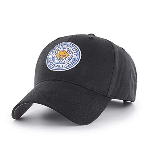 Leicester City FC Cappellino con Visiera (Taglia Unica) (Nero)