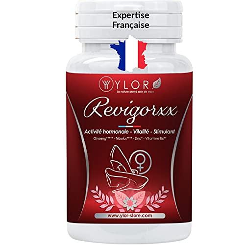Revigorant puissant feminin naturel à base de plantes et de vitamines : ginseng, tribulus, vitamine B6 | Améliore l'activité hormonale | Effet durable | REVIGORXX|45 gélules