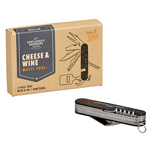 Gentlemen's Hardware GEN350 Käse- und Wein-Multifunktionswerkzeug, Edelstahl