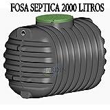 FOSA SEPTICA soterrada 2000 LITROS. Longitud 210 cm, Ancho 130 cm, Alto 1,50 cm. Permite la transitabilidad de peatones por encima.