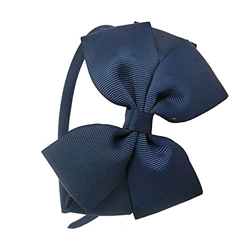 3 unids arco para el pelo diadema para niños arco iris diadema para niños pelo accesorios vestido para niños fiesta chicas pelo-azul