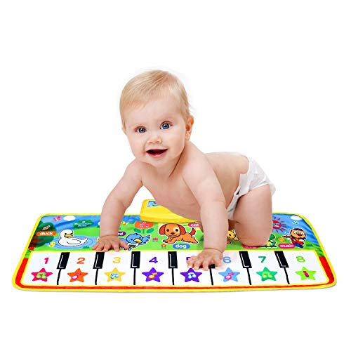Piano Musical Mat,Giant Educational Pre-Kindergarten Toys,15 Keys Keyboard Floor Mat ( Small 28inch