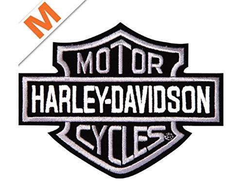 Harley-Davidson Aufnäher B&S Silber klein
