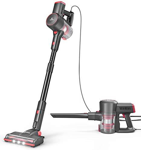 NEQUARE Vacuum Cleaner, 20Kpa Stick Vacuum with Self-Standing, Dual-HEPA Filtration, LED Multi-Tasker Floor Head, Extra HEPA Filter, Handheld Vacuum for Carpet Hardwood, S181