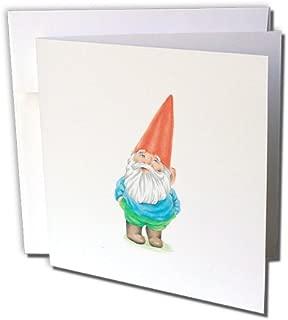 3dRose Greeting Cards, Gnome. Garden Gnome Cartoon. Elf, Set of 6 (gc_123988_1)