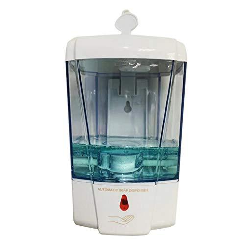 Riou 700 ML Desinfektionsspender Automatisch mit Sensor Wandmontage Seifenspender No Touch Desinfektion Desinfektionsmittel Spender für Küchen und Badezimmer (Weiß, 700 ML)