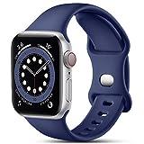 CeMiKa Cinturino Compatibile per Apple Watch Cinturino 38mm 42mm 40mm 44mm, Silicone Cinturini di Ricambio Compatibile con iWatch SE Series 6 5 4 3 2 1, 42mm/44mm-M/L, Blu