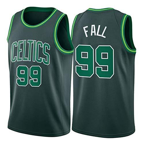 NQI TCCKO Fǎll Celtics 99# Camiseta de Baloncesto para Hombre, 2021 Fan Adulto Tank Tank Top Top Swingman Chaleco Limpieza repetible (S-2XL) S