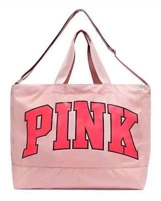 Victorias Secret PINK WEEKENDER TOTE GYM TRAVEL BAG Perfectly Pink 2017