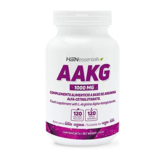 Arginina AKG de HSN | 1000mg | Óxido Nítrico más Potente, Rendimiento Deportivo, Efecto Vasodilatador, Apto Veganos, Sin Gluten, Sin Lactosa, 120 cápsulas vegetales
