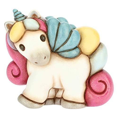 THUN - Soprammobile Unicorno Multicolore - Accessori per la Casa - Linea Unicorno - Formato Piccolo - Ceramica - 5 x 7 x 8,6 h cm