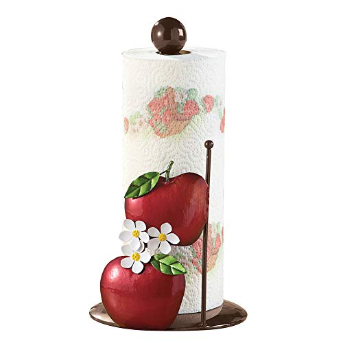 Collections Etc Metal Apple Blossom Paper Towel Holder