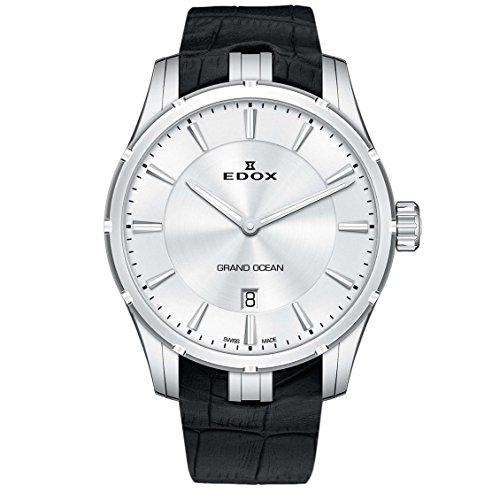 EDOX Herren analog Schweizer Quarzwerk Uhr mit Gummi Armband 56002 3C AIN