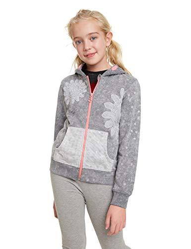 Desigual Mädchen LUISIANA Sweatshirt, Grau (Glaciar Grey 2082), 104 (Herstellergröße: 3/4)