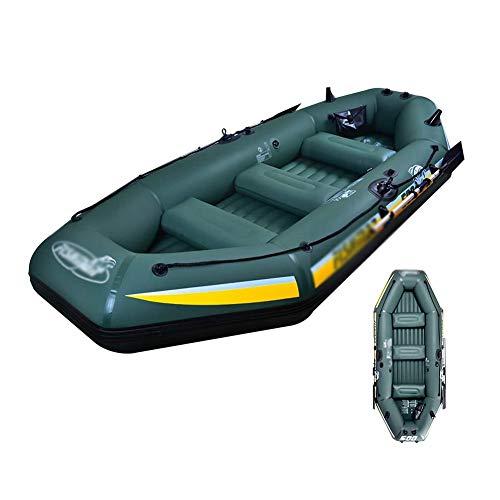 ZR&YW Kayak Gonfiabile, 1-5 Persone Gommone Set, PVC in plastica Pieghevole Portatile...