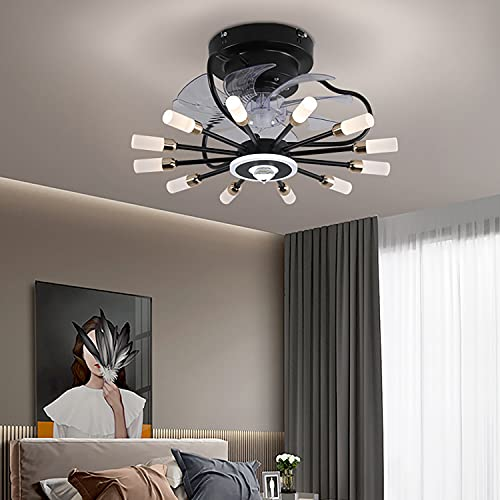 Ventilador Techo Led Y Mando A Distancia Silencioso Lampara Ventilador Techo Led 3 Velocidades Regulable Iluminacion Led Moderna Para Salon Dormitorio Niño Cocina Lámpara Decorativa