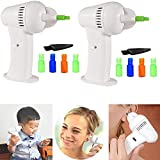 2pcs Electric Ear Cleaner for Adults and Kids, Automatic Vacuum Ear Earwax, Smart Ear Cleaner Cordless Safe Removal VAC Ear Wax Remover Kit