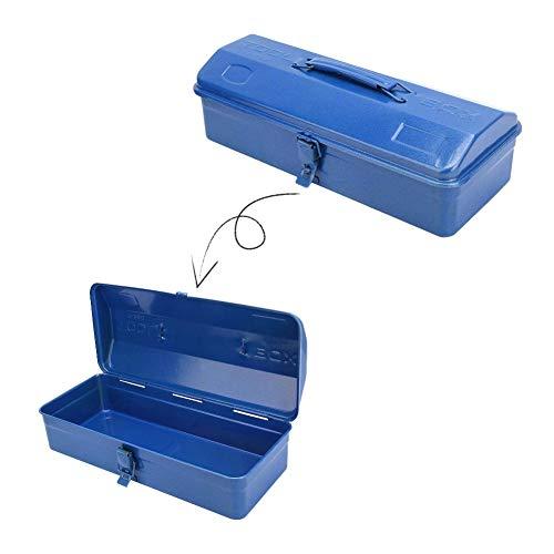 Caja de herramientas portátil, organizador de caja de herramientas de almacenamiento de hierro engrosado con pestillo de metal, soporte de contenedor de caja de almacenamiento (37 * 16 * 11(350))