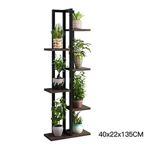 AWX Flower Standaard voor planten, woonkamer, balkon, bamboe, op voet, voor kamerplanten, eenvoudige houder voor bloemen, tuin, terras, plant, 40 × 22 × 135 cm