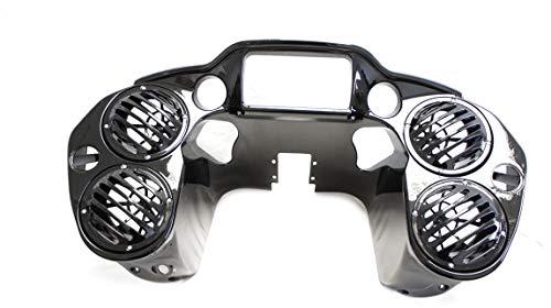 """Double DIN Inner Fairing w Quad 6.5"""" Speaker Pods for Harley Road Glide 2015-UP"""