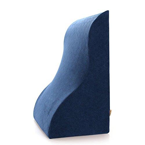 uus Coussin en coton triangle oreiller ergonomique Slow-rebound Lit d'oreiller de chevet par TV Large Coussins Lit Lazy Pad Retour amovible lavable ( Couleur : Bleu )