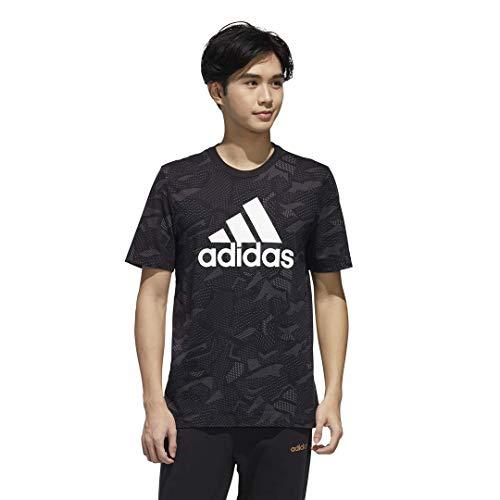 adidas Essentials All Over Print Camiseta, Negro/Blanco, XXXL Altura para Hombre