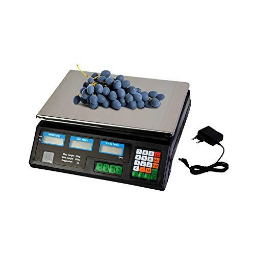VANGALOO Básculas Cable de Carga - básculas Digitales para Tiendas - básculas para cálculo de Precios - básculas de Tienda verificadas - básculas de Mesa de hasta 30 kg